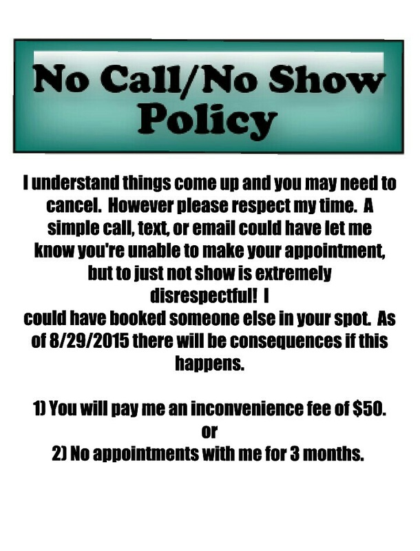 no call no show letter template